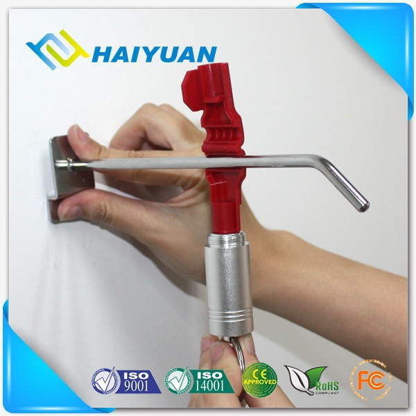 Security display hook stop lock mini metal detacher