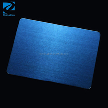 Chinese Supplier Decorative Wall Panel Sapphire Blue Titanium Coated Satin Stainless Steel Sheet