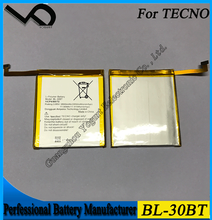 China Phone mobile accessories high capacity li-ion battery for Tecno BL-30BT Li- polymer battery