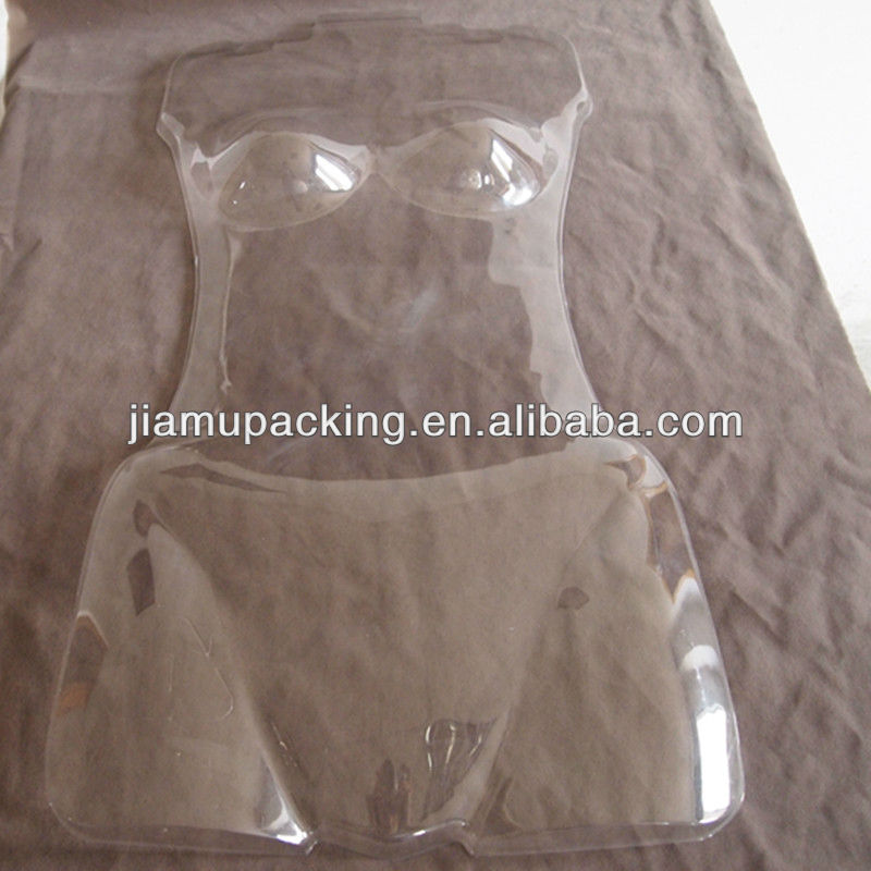 wholesale clear PVC plastic thermoform underwear manikin