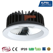 IP20 fixed dimmable anti-glare deep 26W cob led downlight