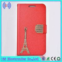 Bling Eiffel Tower Leather Pouch Case For Iphone 6,Factory Wholesale Alibaba