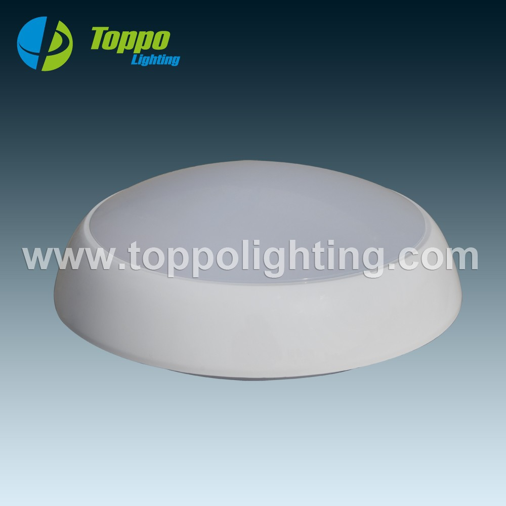 Round LED Ceiling light with emergency packed driver & motion sensor