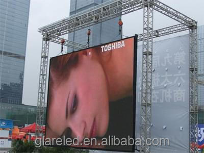 Outdoor Advertising Signs full color P3.91 sexi movies LED video wall