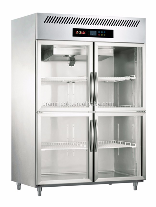 Commercial 4 Glass Door Display Refrigerator Glass Door Freezer
