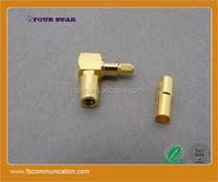 L shape Female crimp SMB connector for BT3002 cable