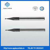 end mill cutter sizes;2-flute flattened end mills with straight shank, long neck and short cutting edge