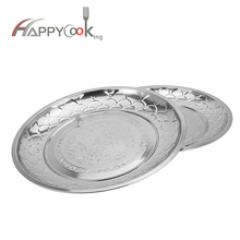 New structure wholesale Antique style stainless steel hot flower tray