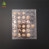 OEM 30 Holes PVC material clamshell disposable plastic quail egg tray