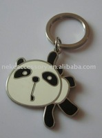 Hot Sell Fashion Customized Panda Shape Metal Key Chain