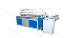 Automatic toilet paper rewinder,napkin embossing and folding making machine
