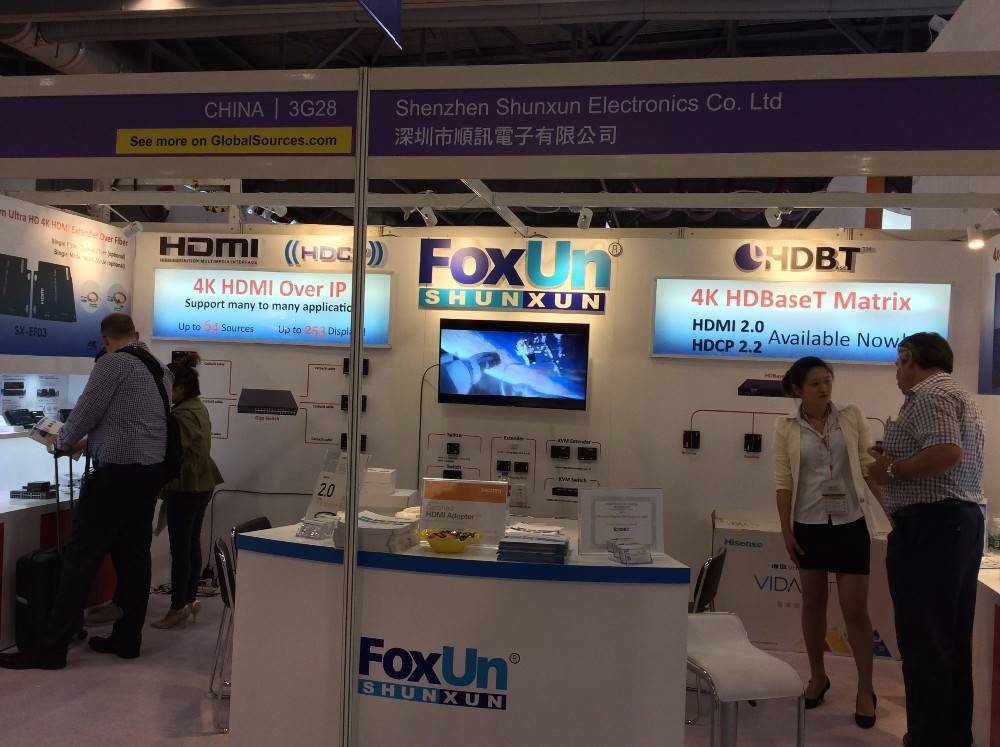 Foxun Trend 18 Gbps 4x4 HDMI 2.0 Matrix Switch Splitter 4K@60HZ YUV4:4:4, HDR, HDCP2.2 out