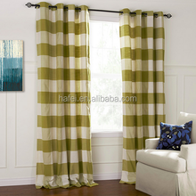 popular grid ready made curtain jacquard blackout fabric