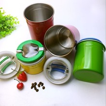 Factory Stainless steel Tea tin box/Coffee cans with airtight lid /Coffee box container