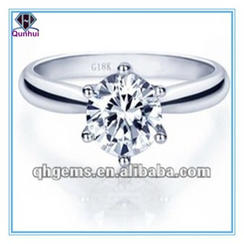 Fashion Clear Brilliant Round Cut CZ Engagement Rings