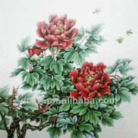 beautiful pictures of chinese flowers on canvas