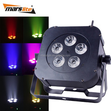 Fancy smart wireless battery power 5x18W rgbaw uv 6in1 led flat par can uplighting for weddings