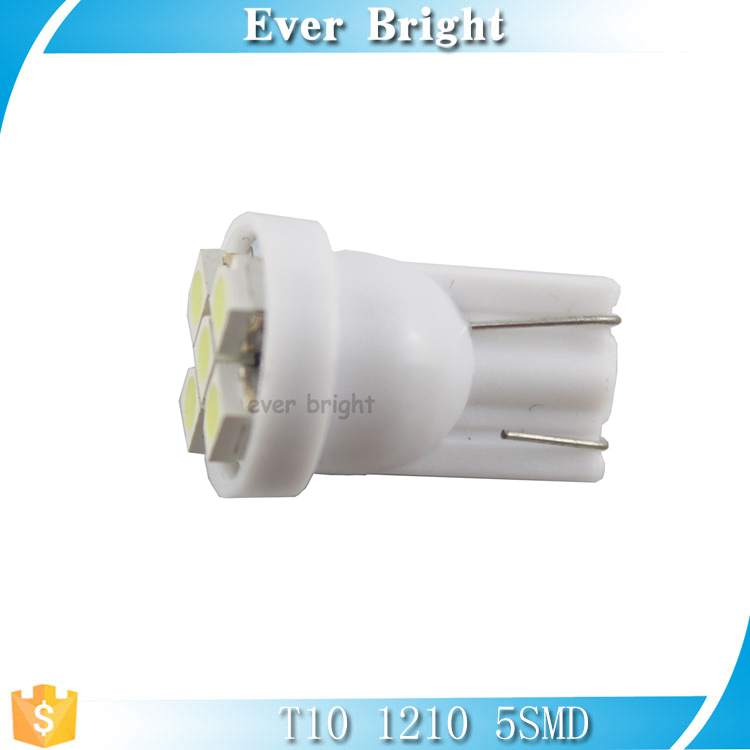 12v led car lights,T10 1210 5smd led,base material is T10