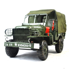 jijp779 Hot Selling Special Design Ornaments Green Army Jeep Mini Antique Truck Model