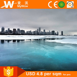 [BH3262] Home Decor City Skyline Small Photo Wallpaper Wall Murals Scenery