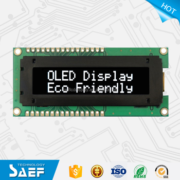 2.26inch standard 1602 character display OLED white LCD module