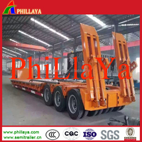 China Supplier 3 Axle Low Bed