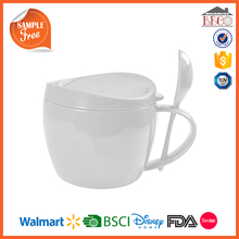 Melamine Plastic Mug WIth Handle And Lid