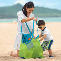 High quality Big Mesh Tote Bag / Beach toys Bag / Baby Toy Collection Bag