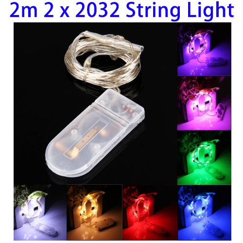 Christmas Outdoor Decorations Button Batteries Powered Waterproof LED String Light