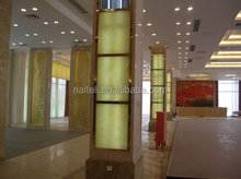 Decorative translucent faux alabaster sheet, alabaster backlit designs