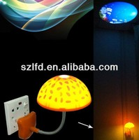2013 new design cute mushroom fashion promotion lamp for sale colourful led lamp with led light