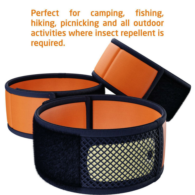 Bug & mosquito repellent bracelet with refill pellet