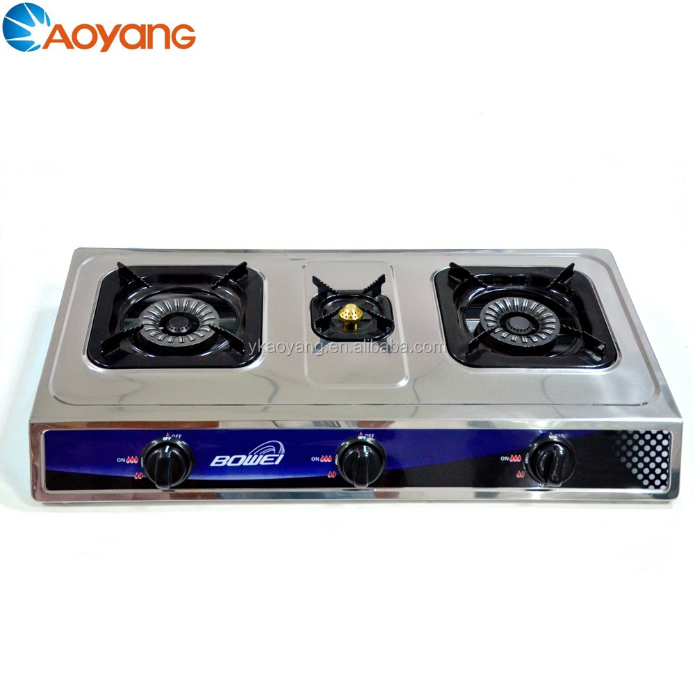 Low Consumption Blue Flame 3 Burner Portable Camping Gas Stove