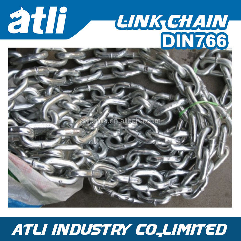 Welded hot dip galvanized twisted silver link chain