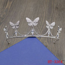 butterflies tiaras personality full diamond crowns headdress tiara married Accessories