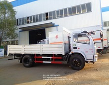 CLW 6 tons 8 ton dry cargo common goods transport trucks side wall deck board flatbed lorry for sale