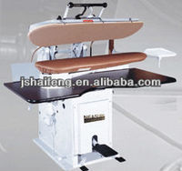 Steam press or machine for ironing shirts