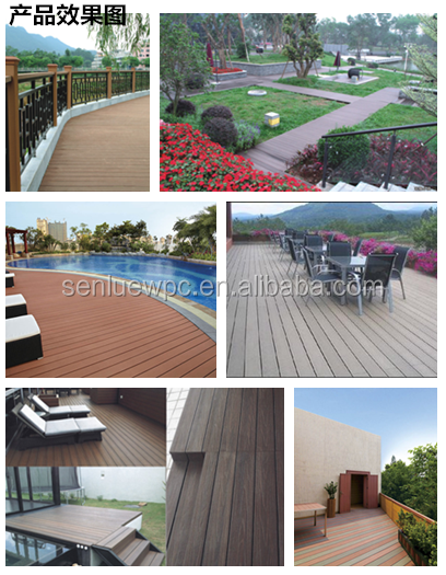Crack Resistant High Quality outdoor Wpc Solid Decking direct from factory 135mm*21mm