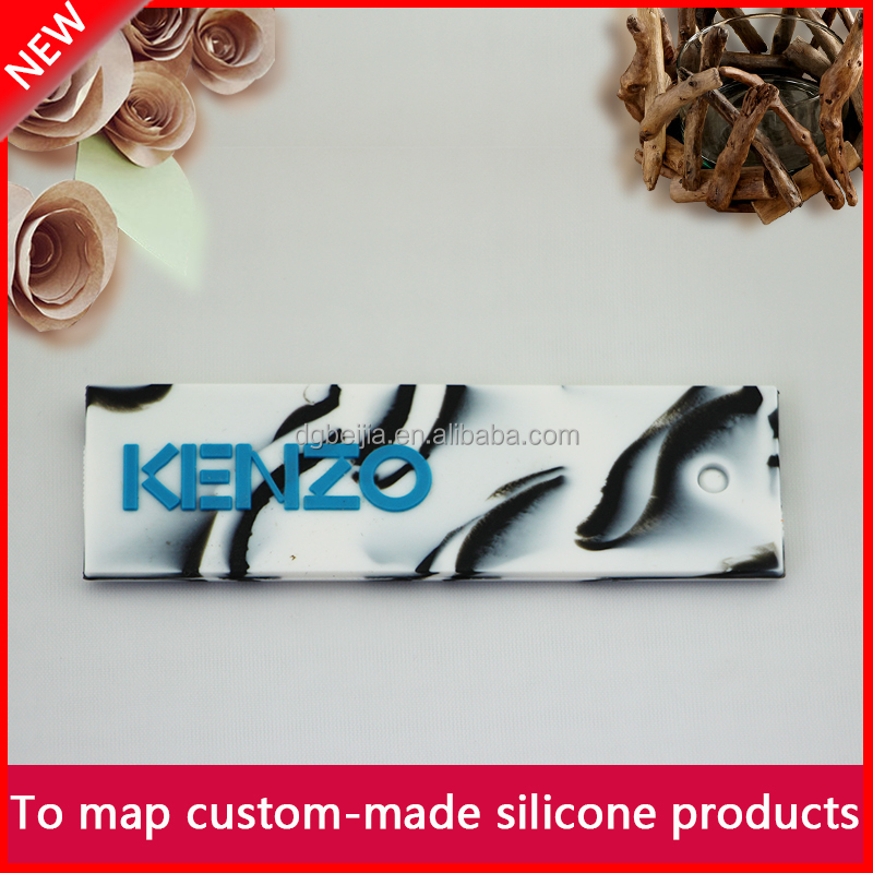 High quality custom clothing labels/cheap silicone labels