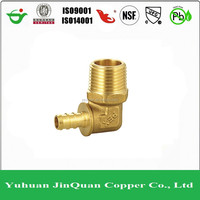 Crimp fitting for pex pipe male elbow US style