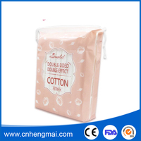 222pcs/bag Double-sided Double-effect Cosmetic Cotton Pad Side Sealed Facial Cotton Puffs