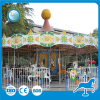 Great fun music carousel kids rides for shopping centers