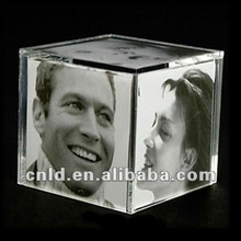 3D acrylic cube photo frame