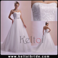 Suzhou Tulle Sweetheart Long Train A Line Wedding Dress 2014