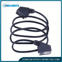 S-video/audio cable adapter h0t23 scart cable to svga for sale