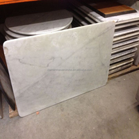 Hand Carved Square White Marble Stone Dining Table Top Polishing