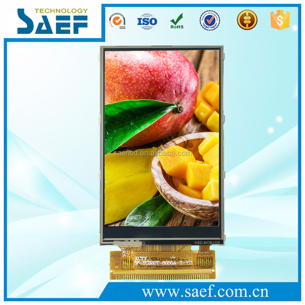 Industrial lcd 3.2 inch tft lcd display 240x400 dots resistive touch screen