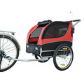 Foldable Pet Bike Trailer Bicycle Stroller Jogger - Red