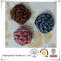 small plaid fabric rose bloom, hand made flower bud for decoration.