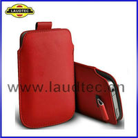 New Product Pull Tab Leather Case Pouch For Galaxy Note 2 N7100 For Samsung Galaxy Note 2 Pouch Cover Laudtec